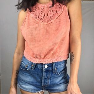 🌻Free people open back top